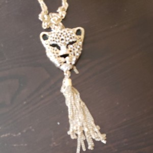 Talìa Long necklace and earrings ( Panther )