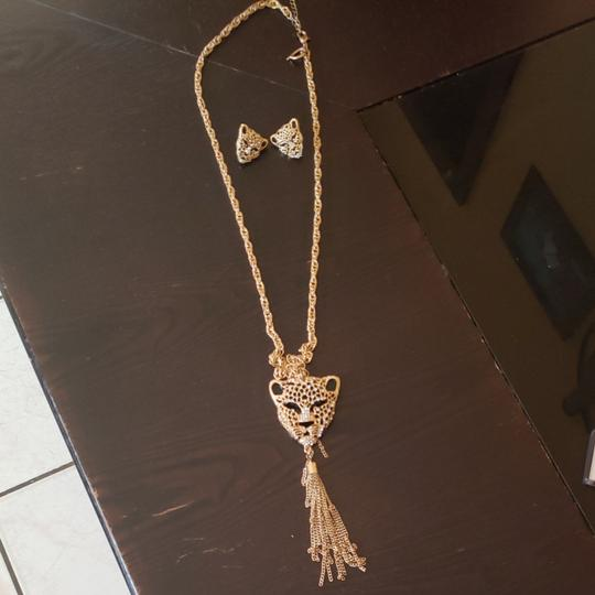 Talìa Long necklace and earrings ( Panther ) Image 1