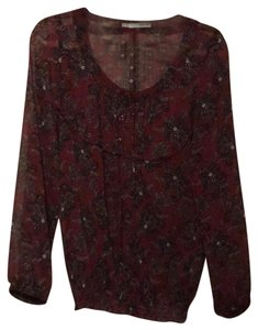 Maurices Top Maroon & black