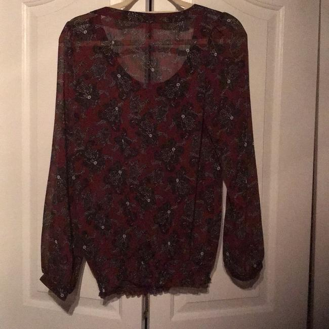 Maurices Top Maroon & black Image 1