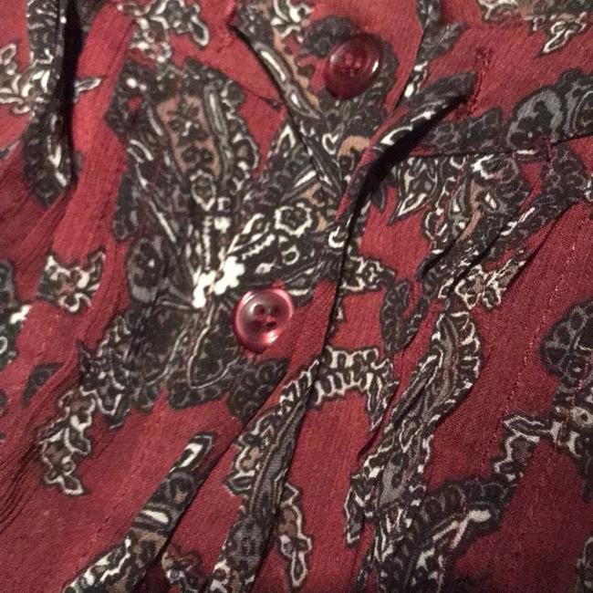 Maurices Top Maroon & black Image 3