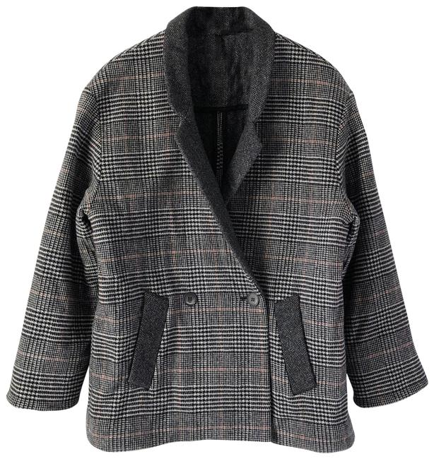 Preload https://img-static.tradesy.com/item/24430708/topshop-black-grey-boutique-oversized-wool-cashmere-houndstooth-check-coat-size-6-s-0-1-650-650.jpg