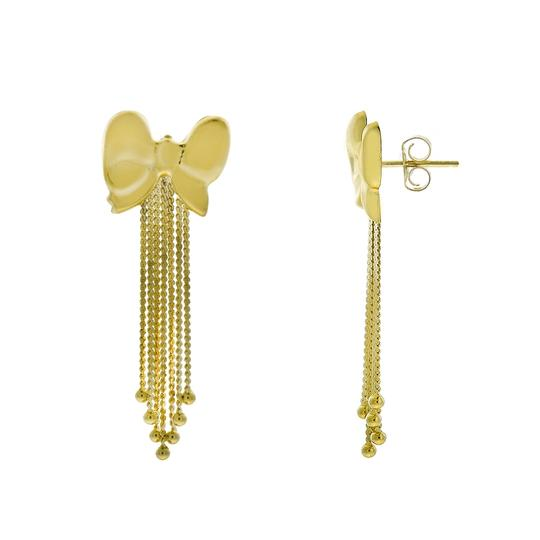 Avital & Co Jewelry 14K Yellow Gold Bow Shaped Dangle Earrings Image 1