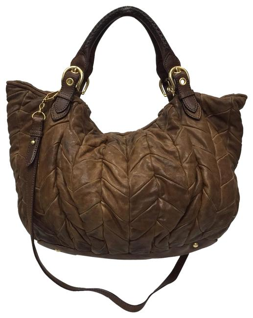 Miu Miu Caramel Leather Hobo Bag Miu Miu Caramel Leather Hobo Bag Image 1
