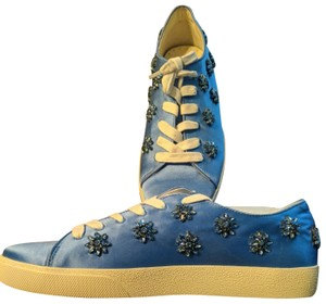 Anthropologie Alice Olivia Size Wedgewood blue with blue gemstones and crystals Athletic