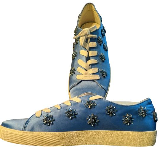 Preload https://img-static.tradesy.com/item/24430860/anthropologie-wedgewood-blue-with-blue-gemstones-and-crystals-alice-olivia-flowers-sneakers-size-us-0-1-540-540.jpg
