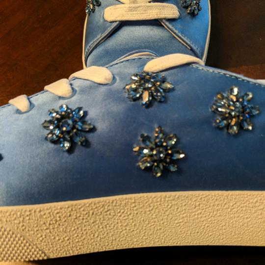 Anthropologie Alice Olivia Size Wedgewood blue with blue gemstones and crystals Athletic Image 1