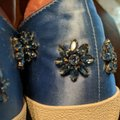 Anthropologie Alice Olivia Size Wedgewood blue with blue gemstones and crystals Athletic Image 11