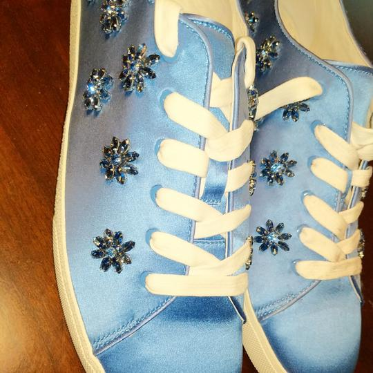 Anthropologie Alice Olivia Size Wedgewood blue with blue gemstones and crystals Athletic Image 7