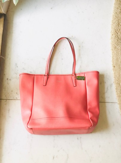 Coach Tote in Coral Image 1