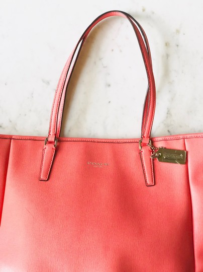 Coach Tote in Coral Image 3