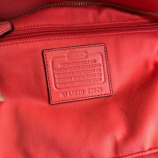 Coach Tote in Coral Image 7