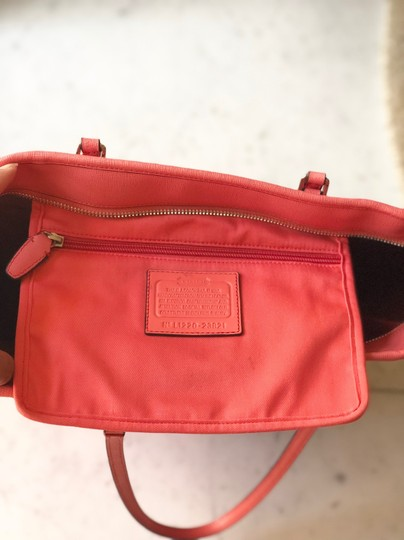 Coach Tote in Coral Image 8