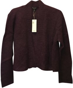 Eileen Fisher Mohair Blend Cropped Open With Tags Cardigan