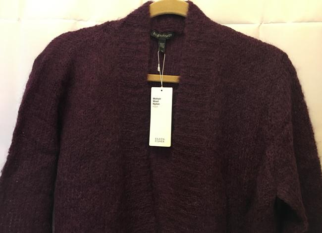 Eileen Fisher Mohair Blend Cropped Open With Tags Cardigan Image 1