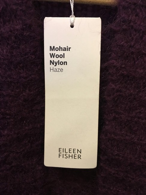 Eileen Fisher Mohair Blend Cropped Open With Tags Cardigan Image 3