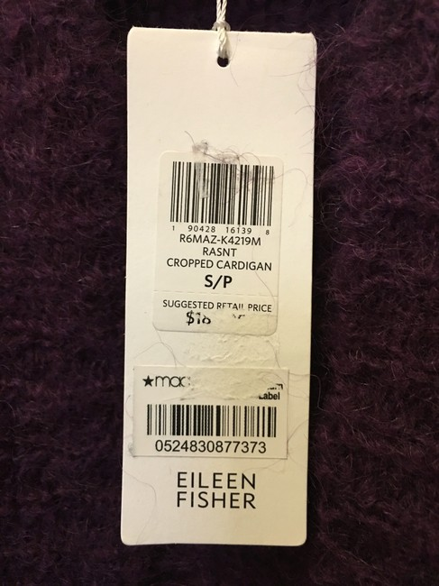 Eileen Fisher Mohair Blend Cropped Open With Tags Cardigan Image 4