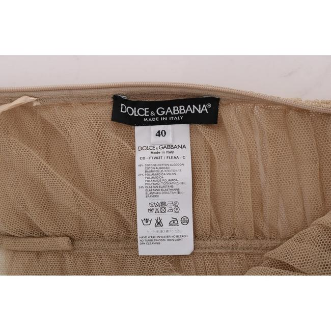 Dolce&Gabbana Women's Stretch Cotton D1452-2 Top Beige Image 5