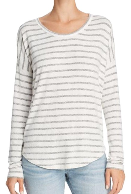 Preload https://img-static.tradesy.com/item/24430896/rag-and-bone-gray-striped-tee-shirt-size-0-xs-0-1-650-650.jpg