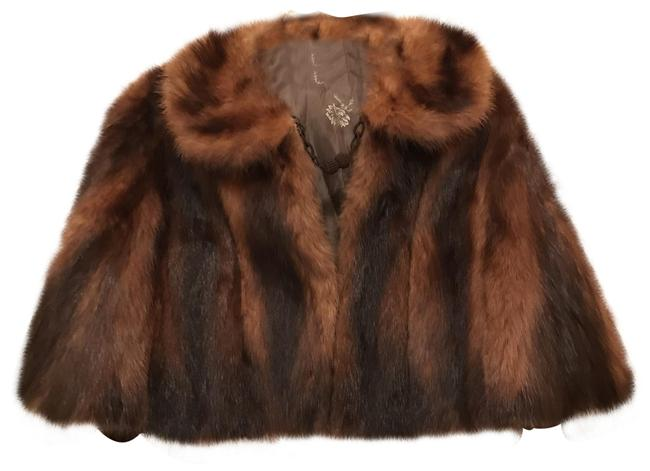 Item - Brown Beige Natural Mink Stole Wrap Cape Coat Size 10 (M)