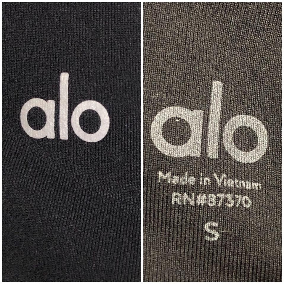 6f3ddf0983a19 Alo Black High-waist Dash Capri / Activewear Bottoms Size 6 (S ...