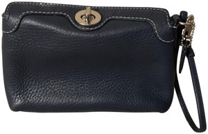 Coach Leather Navy Clutch