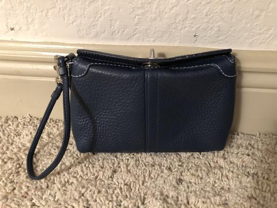 Coach Leather Navy Clutch Image 1