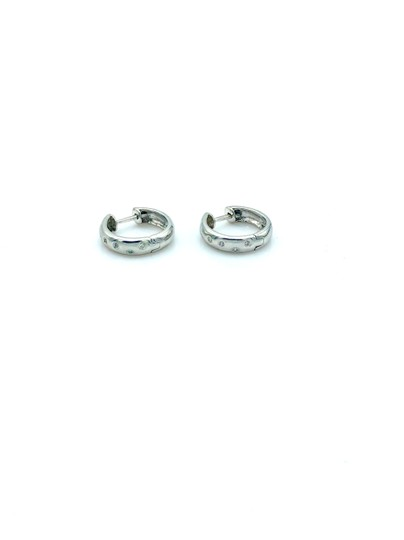 other Diamond white gold mini hoop earrings Image 0