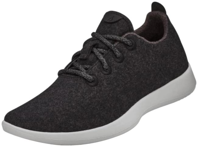 Item - Black Gray And Wool Runner Sneakers Size US 10 Regular (M, B)