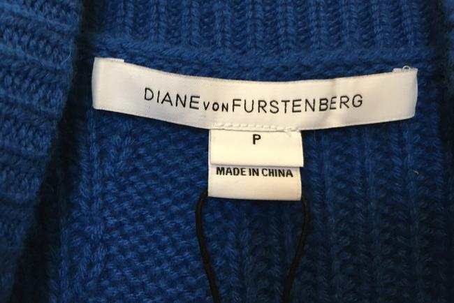 Diane von Furstenberg Wool Cashmere Blend Mock Turtle Neck Size Petite 0-2 New With Tags Sweater Image 2