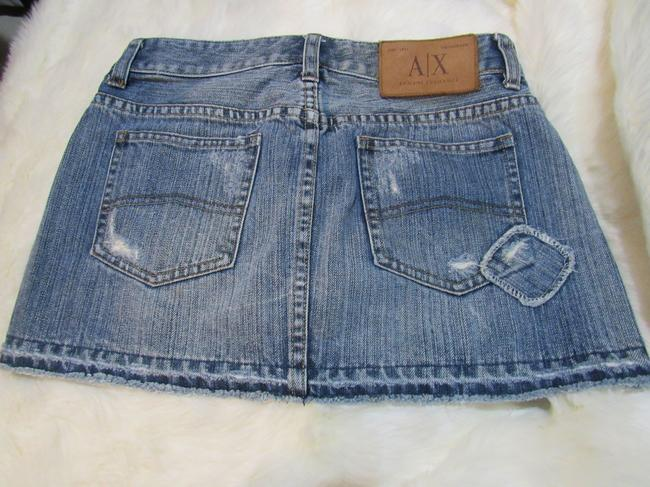 A|X Armani Exchange Mini Skirt Blue Image 1