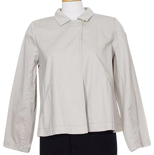 Preload https://img-static.tradesy.com/item/24431174/eileen-fisher-pebble-gray-enzyme-washed-cotton-convertible-collar-jacket-size-petite-6-s-0-1-650-650.jpg