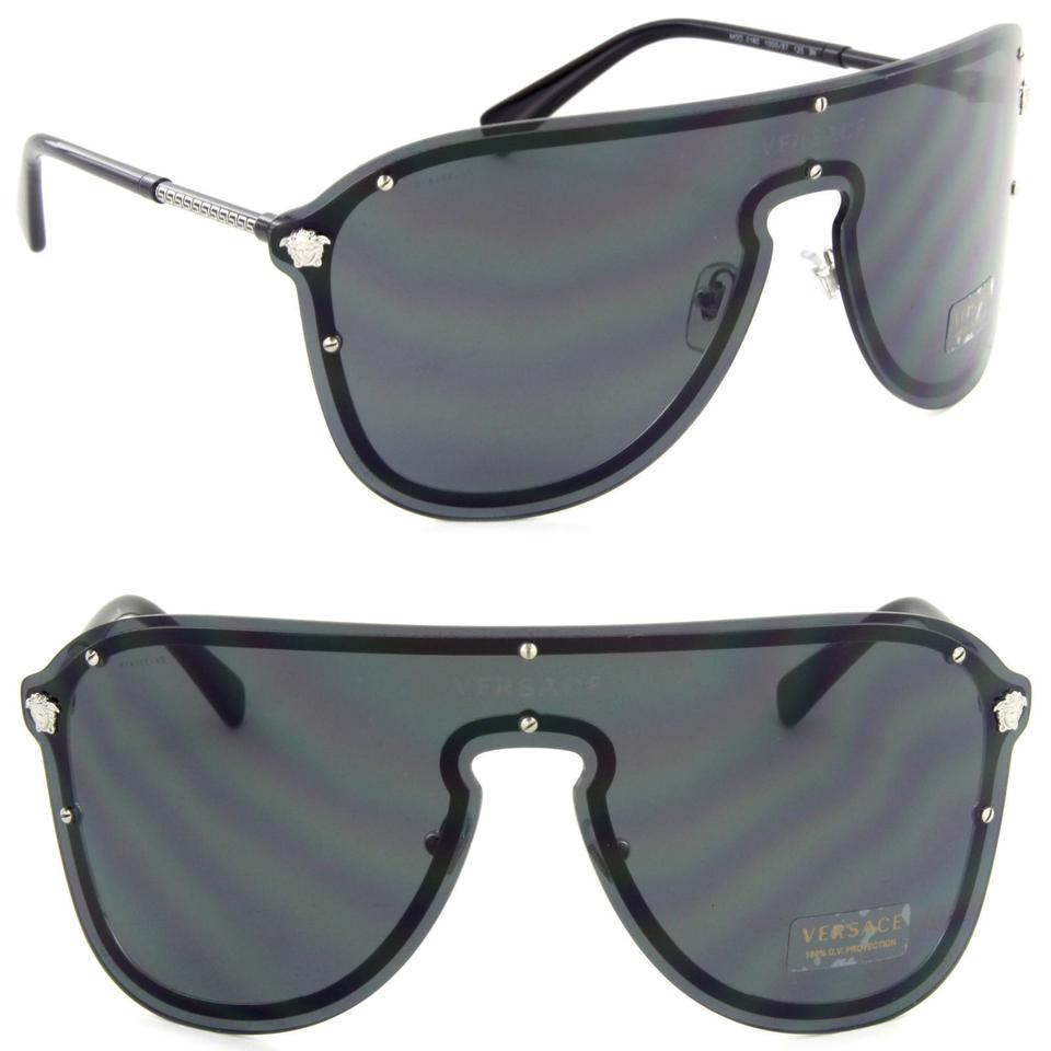 920ef565bc Versace Versace Pilot Mask Sunglasses VE2180 Silver Grey 44mm Image 0 ...