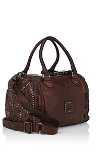 Campomaggi Leather Studded Atisan Eclectic Shoulder Bag