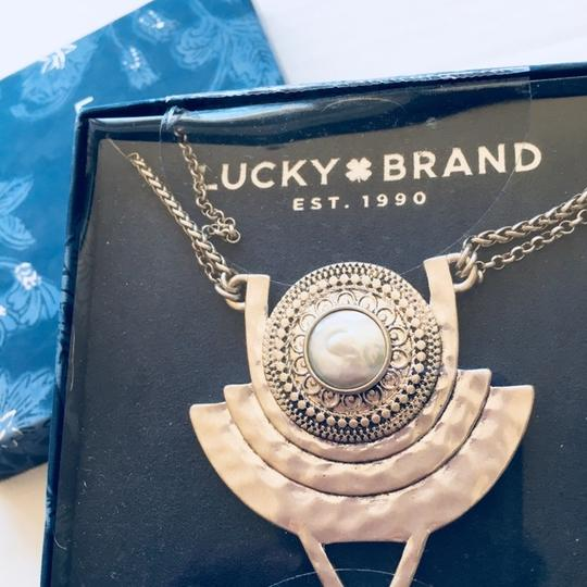Lucky Brand Natural Materials Statement Necklace Image 1