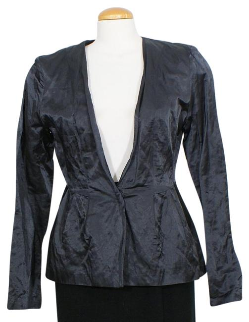 Preload https://img-static.tradesy.com/item/24431227/eileen-fisher-graphite-gray-steel-satin-cotton-blend-peplum-v-neck-jacket-size-8-m-0-1-650-650.jpg