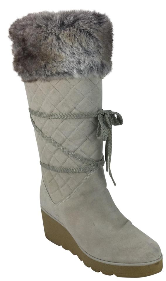 13b9643e56f Marc Jacobs Cream Suede Faux Fur Boots/Booties Size EU 39 (Approx. US 9)  Regular (M, B)