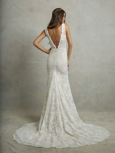 Ivory Lace Montgomery Lined Lining) Traditional Wedding Dress Size 12 (L) Image 1