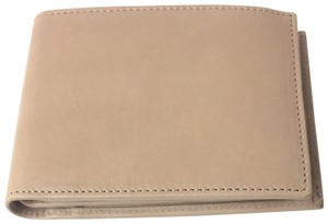 Gucci Gucci Washed Soft Leather Beige Trifold Wallet 333042