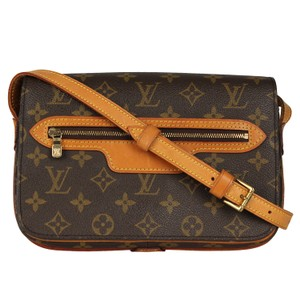 Louis Vuitton Vintage Monogram Canvas Leather Cross Body Bag
