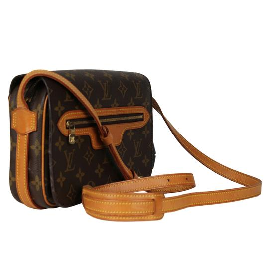 Louis Vuitton Vintage Monogram Canvas Leather Cross Body Bag Image 1