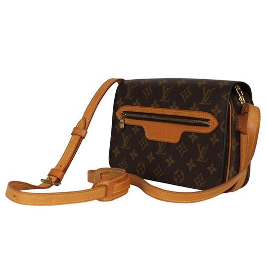 Louis Vuitton Vintage Monogram Canvas Leather Cross Body Bag Image 2