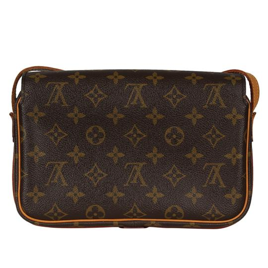 Louis Vuitton Vintage Monogram Canvas Leather Cross Body Bag Image 6