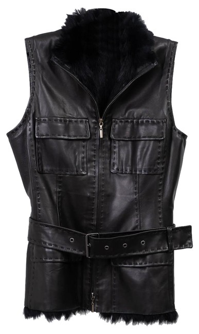 Preload https://img-static.tradesy.com/item/24431367/elie-tahari-black-fur-lines-leather-vest-size-2-xs-0-1-650-650.jpg
