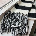 N/a Black and White Thick Winter Scarf Image 1