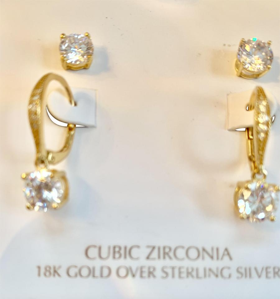 986dadc22 Giani Bernini 18kt Gold and Cz Box Two Set Gift Earrings - Tradesy