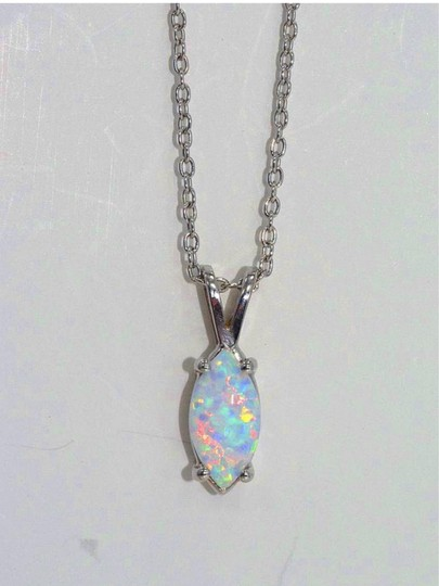 Other Opal Marquise Pendant .925 Sterling Silver Image 1