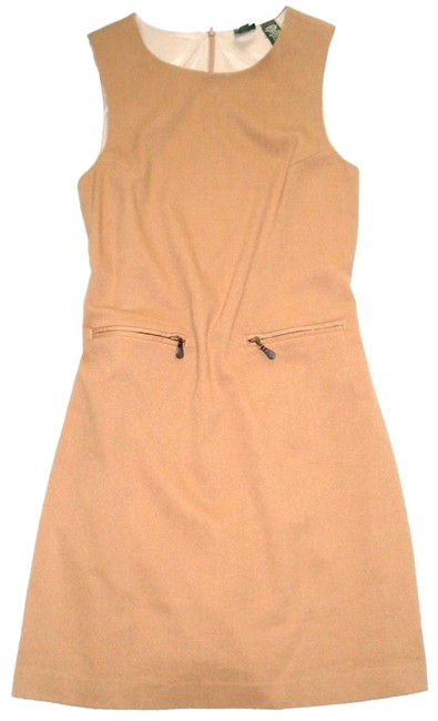 Preload https://img-static.tradesy.com/item/24431511/beige-camel-98-wool-sleeveless-zip-pockets-jumper-mid-length-workoffice-dress-size-10-m-0-1-650-650.jpg