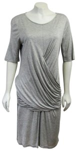 Burberry short dress grey Ruched Large on Tradesy