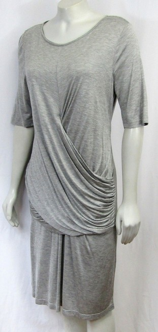 Burberry short dress grey Ruched Large on Tradesy Image 7